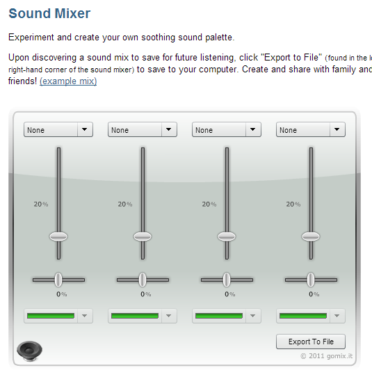Screenshot of the Free Mixer!